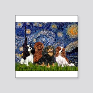 "Starry / 4 Cavaliers Square Sticker 3"" x 3"""