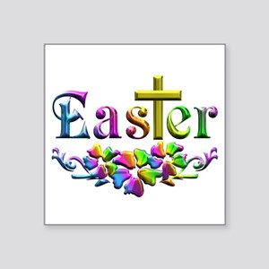 Easter Cross and Flowers Sticker