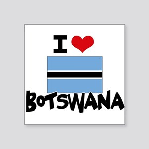 I HEART BOTSWANA FLAG Sticker