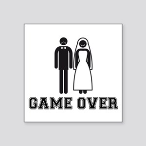 wedding couple game over Sticker