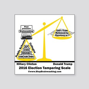 "Actual Election Tampering Square Sticker 3"" x 3"""