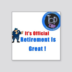 'Police Retirement Designs. Square Sticker