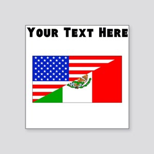 Mexican American Flag Sticker
