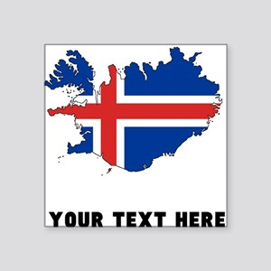 Icelandic Flag Silhouette (Custom) Sticker