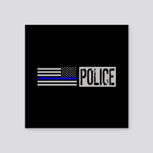 "Police: Police (Black Flag, Square Sticker 3"" x 3"""