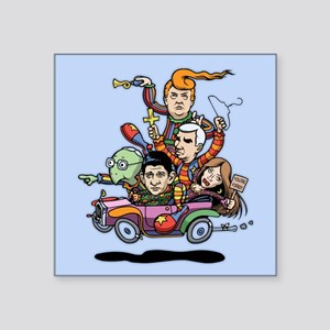 "GOP Clown Car '16 Square Sticker 3"" x 3"""