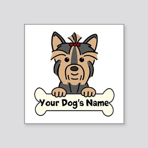 "Personalized Yorkie Square Sticker 3"" X 3&amp"
