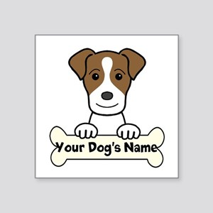 "Personalized Jack Russell Square Sticker 3"" X"