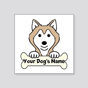 "Personalized Alaskan Malamu Square Sticker 3"" x 3"""