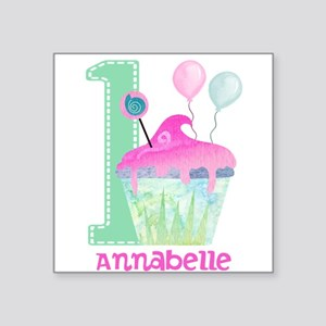 Baby Girl 1st Birthday Sticker