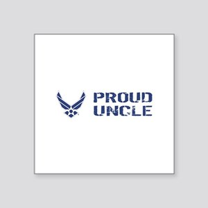 "USAF: Proud Uncle Square Sticker 3"" x 3"""