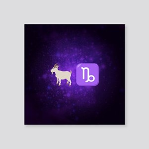"Emoji Capricorn Zodiac Square Sticker 3"" x 3"""