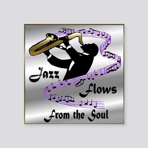 "MusicFlowsFrom the Soul Square Sticker 3"" x 3"""