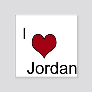"i 3 jordan Square Sticker 3"" x 3"""