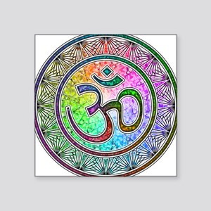 "OM-mandala Square Sticker 3"" x 3"""