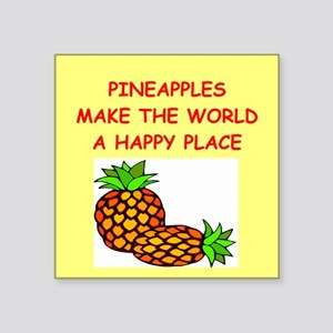 "PINEaPPLES Square Sticker 3"" x 3"""