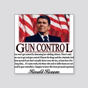 "ronald reagan guncontrol Square Sticker 3"" x 3"