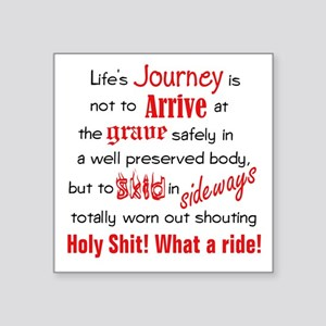 "Lifes Journey Square Sticker 3"" x 3"""