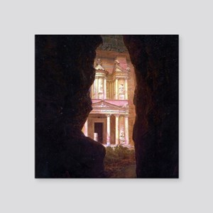 "Frederick Edwin Church Petra Square Sticker 3"" x 3"