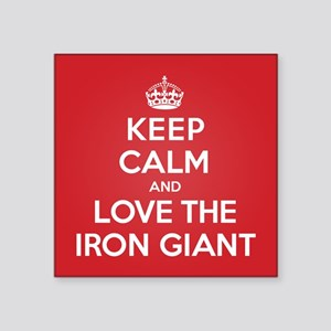 "K C Love the Iron Giant Square Sticker 3"" x 3"""