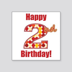 Happy 2nd Birthday! Sticker