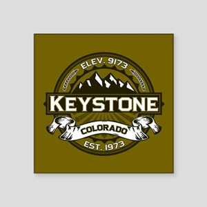 "Keystone Olive Square Sticker 3"" x 3"""