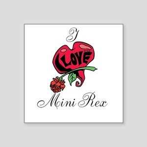 I heart Mini Rex Sticker