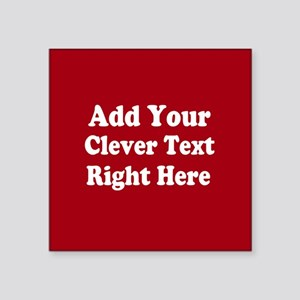 Add Text Background Red White Sticker