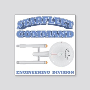 "Starfleet Engineering Division Square Sticker 3"" x"