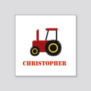 Personalised Red Tractor Sticker
