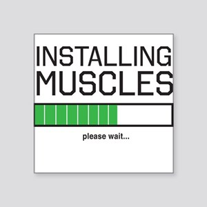 Installing muscles Sticker