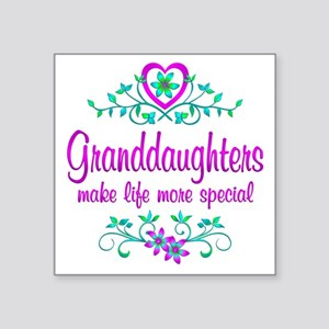 "Special Granddaughter Square Sticker 3"" x 3"""