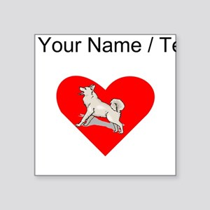 Custom Alaskan Malamute Heart Sticker