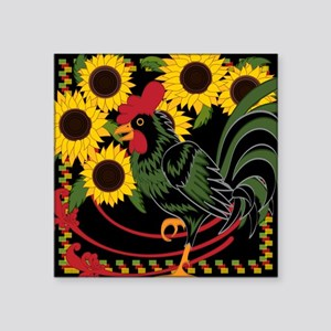 ROOSTER IN THE SUNFLOWERS Sticker