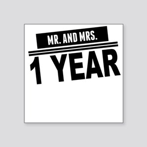 Mr. And Mrs. 1 Year Sticker