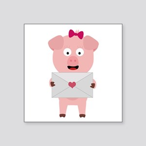 Female Pig with Loveletter Sticker