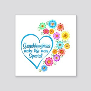 Granddaughter Special Heart Sticker