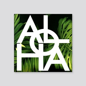 Aloha Whitre Graphic Palm Print Sticker