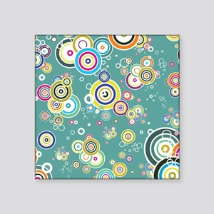 BLUE CIRCLES AND DOTS MULTICOLOR Sticker