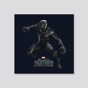 "Black Panther Pose Square Sticker 3"" x 3"""