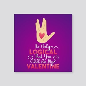 "Logical Valentine Square Sticker 3"" x 3"""