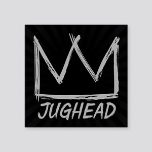 "Jughead Crown Scribble Square Sticker 3"" x 3"""