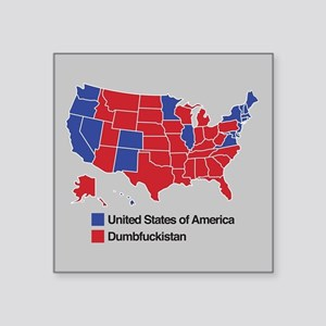 Map of Dumbfuckistan Sticker