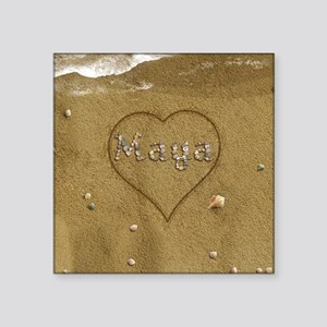 "Maya Beach Love Square Sticker 3"" x 3"""