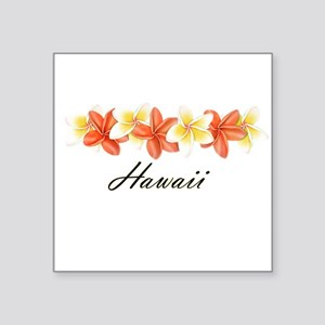 Plumeria Band Square Sticker