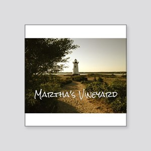 "Lighthouse Path Square Sticker 3"" x 3"""