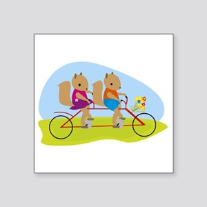 Squirrels on a Tandem Bike Sticker