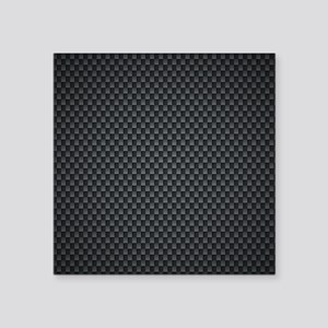 "Carbon Mesh Pattern Square Sticker 3"" x 3"""