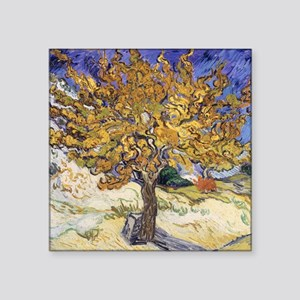 "Mulberry Tree, 1889 by Vinc Square Sticker 3"" x 3"""