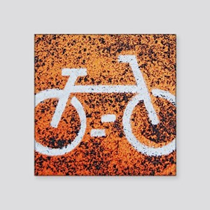 "Bicycle sign Square Sticker 3"" x 3"""